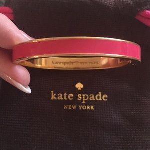 """Kate Spade Pink Enamel """"My Cup of Tea"""" Bracelet"""